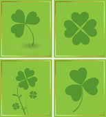 Shamrock Background Set — Stock Vector