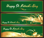 Patrick's Day Shamrock Banner — Stock Vector