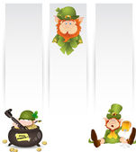 Illustrazione di banner leprechaun — Vettoriale Stock
