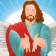 Illustration of Jesus Christ — Stock Vector