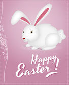 Easter Bunny Background — Stock Vector