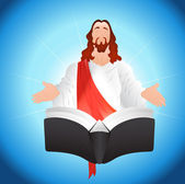 Jesus Christ with Book — Stock Vector