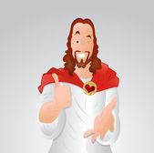 Winking Eye Jesus Christ — Stock Vector