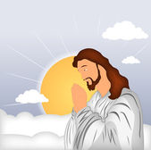Praying Jesus Christ — Stock Vector