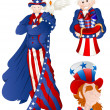 Portrait of Uncle Sam Vector Illustration — Stock Vector #9654267