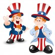 Set of Uncle Sam Portrait — Stock Vector