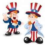 Set of Uncle Sam Portrait — Stock Vector