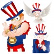 Uncle Sam Vector Illustration — Stock Vector