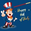 Happy 4th of July — Vector de stock