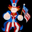 Patriotic Uncle Sam Vector — Stock Vector