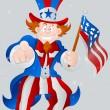 Постер, плакат: American Patriotic Uncle Sam
