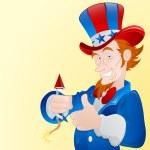 homme patriotique — Vecteur