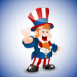 Patriotic Uncle Sam Vector Illustration - Stock Vector