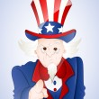 4th of July Uncle Sam - Stock Vector