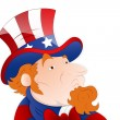 Vector Illustration of Uncle Sam — Stock Vector
