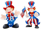 Set of Happy Uncle Sam — Stock Vector