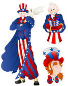 Portrait of Uncle Sam Vector Illustration — Stok Vektör