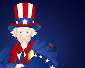 Uncle Sam Closeup Portrait — Vector de stock
