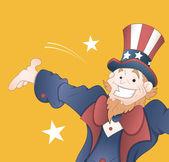 Happy Uncle Sam Vector — Stock Vector