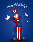 Happy Uncle Sam Greeting Card — Stok Vektör