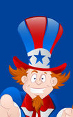 Closeup of Happy Uncle Sam — Stockvector