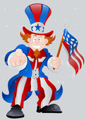 American Patriotic Uncle Sam — Stock Vector