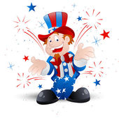 Cheerful Uncle Sam Illustration — Stock Vector