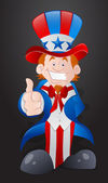 Happy Young Uncle Sam — Stock Vector