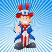 Happy Young Uncle Sam Vector — Stock Vector