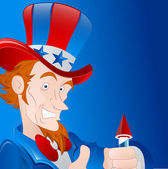 Patriotic Man Vector Art — Stock Vector