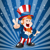 Illustration of Uncle Sam — Stock Vector