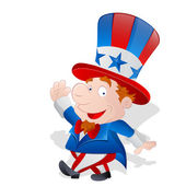 Cute Happy Uncle Sam — Stock Vector