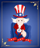4th of July Uncle Sam Card — Stock Vector