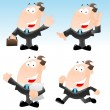 Stock Vector: Set of Funny Businessmen