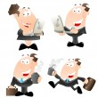 Cartoon Office Employees Vector — Stock Vector