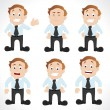 Businessman in Different Poses — Vektorgrafik