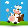 Dairy Cow Milk — Stock Vector #9712814