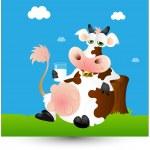 lait de vache laitière — Vecteur #9712814