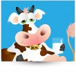 Royalty-Free Stock Imagen vectorial: Funny Dairy Cow Vector