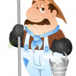 Stock Vector: Milkman