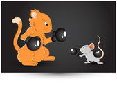 Mouse Fighting Vector — 图库矢量图片