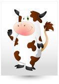 Happy Cow Vector — Stock Vector