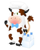 Milkman Cow — Stock Vector