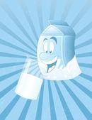 Retro Dairy Milk Template — Stock Vector