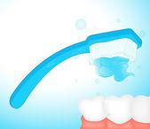 Borstelen tanden illustraties — Stockvector