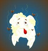 Unhealthy Tooth — Cтоковый вектор