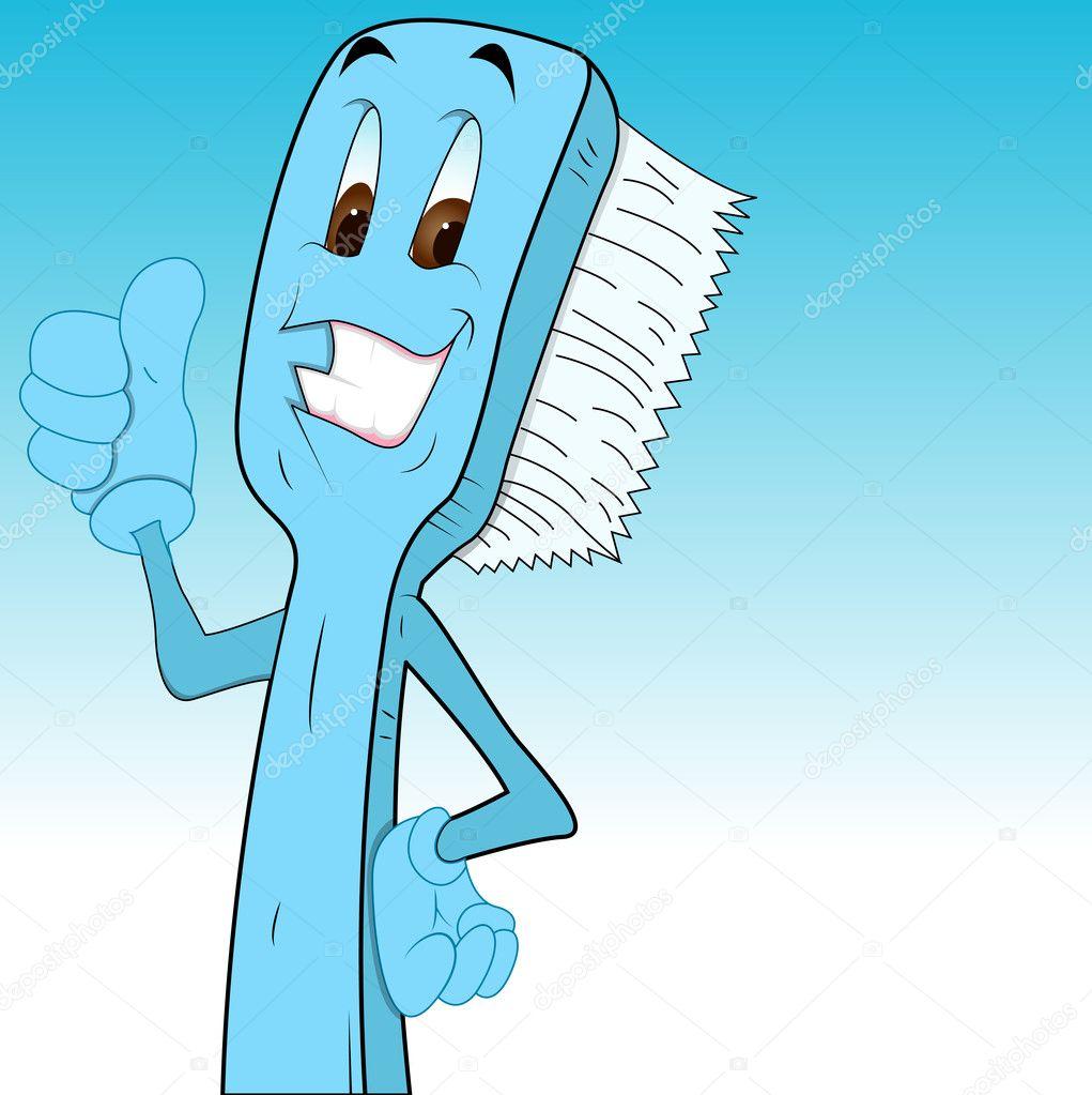 Cartoon Toothbrush Clip Art — Stock Vector © baavli #9787977