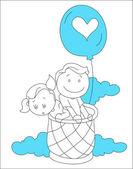 Illustrazione di bambini felici — Vettoriale Stock