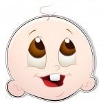Cute Baby Face — Stock Vector #9899613