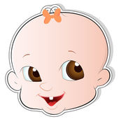 Cute Baby Face Vector — Stock Vector